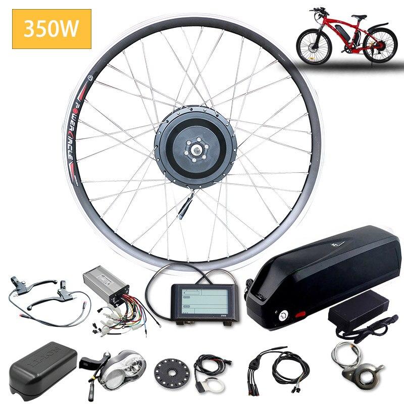 Kit de conversión de bicicleta eléctrica 48V 350W frente Motor de cubo...