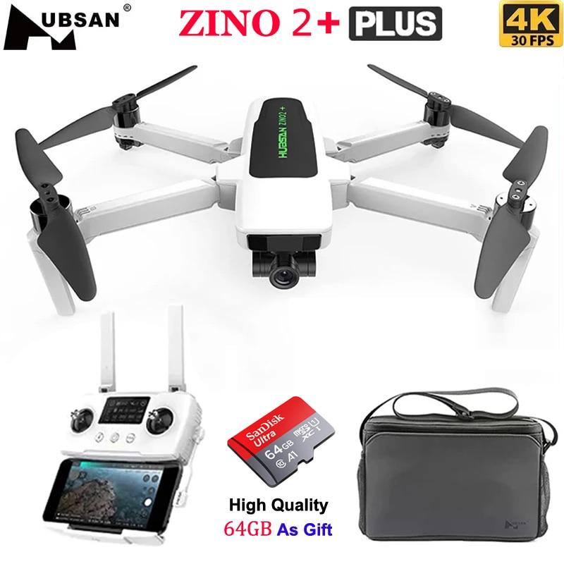 New Hubsan Zino 2 Plus Quadcopter with 4K 60fps UHD WiFi FPV Camera 3-Axis Gimbal 9KM 35 Mins Flight GPS RC Drone Zino 2+