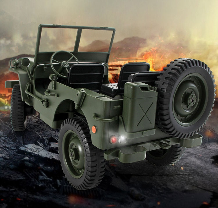 RC Truck Q65 1:10 2.4G 4WD Car convertible remote control light jeep four-wheel drive off-road Military climbing cars toys enlarge