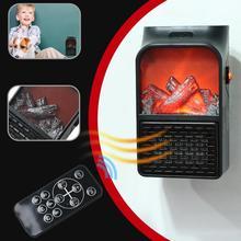 900 Вт мини электрический тепловентилятор с дистанционным управлением, портативная настольная Бытовая вилка-обогреватель для комнаты, обогреватель воздуха, зимний теплый вентилятор