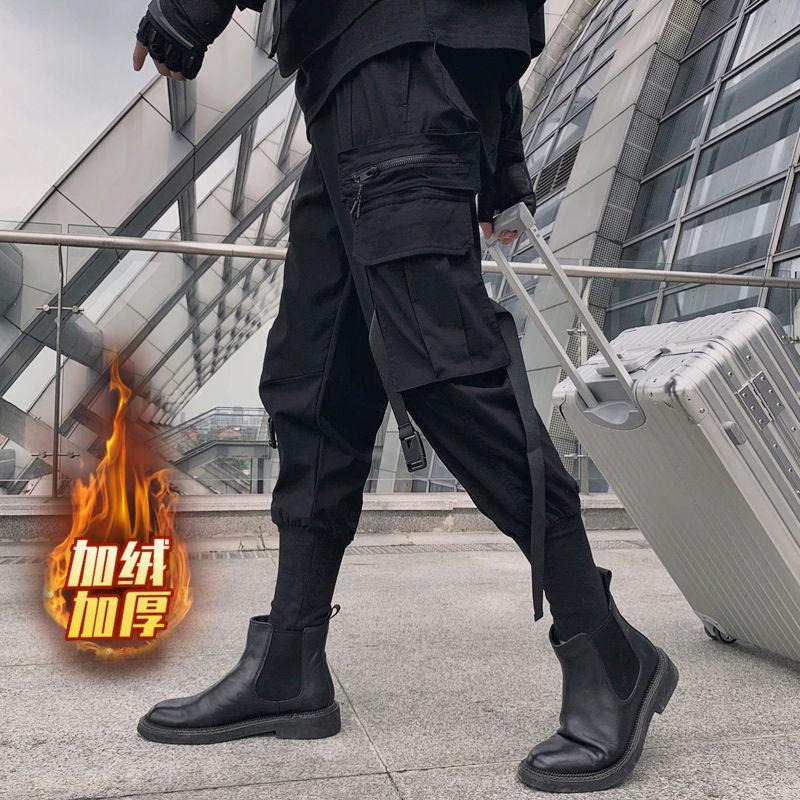 Black Cargo Pants Joggers Men Harajuku Swag Streetwear Military Techwear Mens Clothing Japanese Style Pencil Casual Trousers