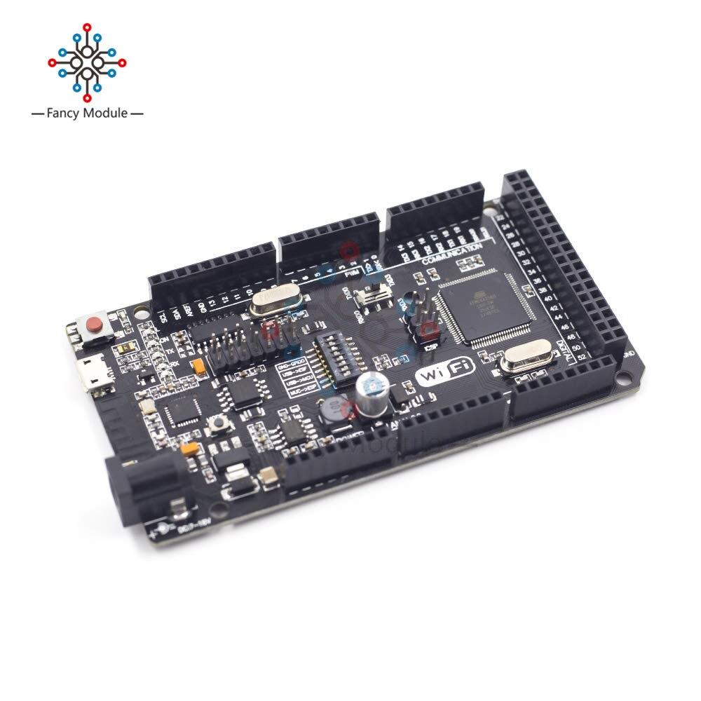 Mega2560 WiFi R3 ATmega2560 ESP8266 CH340G 32MB de Memória Micro USB para TTL para Arduino Mega NodeMCU ESP8266 WeMos