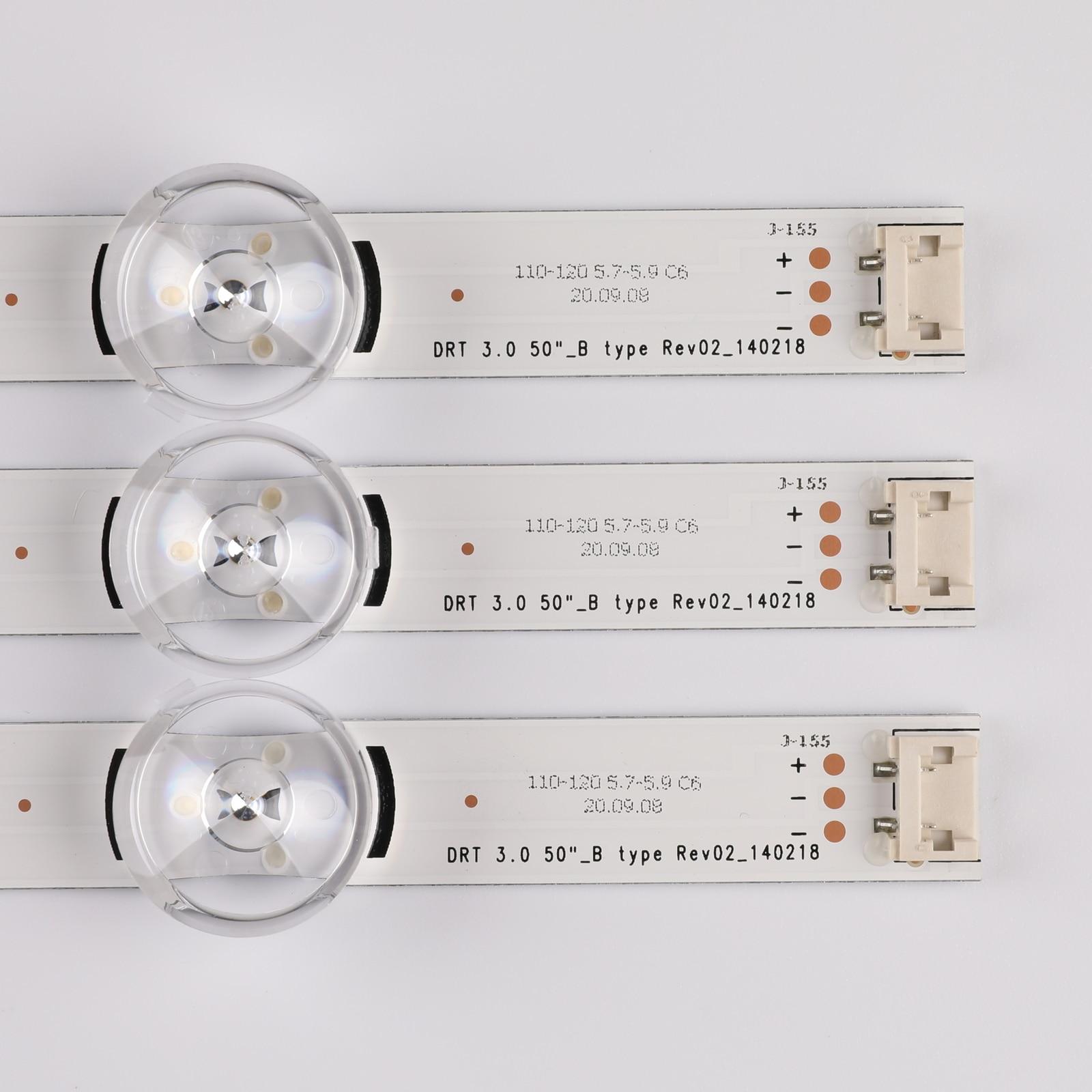 (جديد الأصلي) 10 قطعة/المجموعة LED قطاع ل LG 50LB650V 50LF6000 INNOTEK DRT 3.0 50 بوصة ab 6916L-1982A 1983A 6916L-1781A 1782A