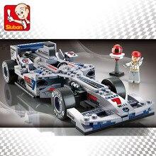 SLUBAN vitesse champions F1 formule voiture blocs de construction ensembles briques classique créateur technique modèle enfants jouets cadeaux