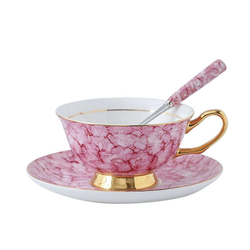 Tasse à café en porcelaine créative européenne avec poignée en céramique tasse à thé de luxe britannique or Kubek Silikonowy maison Drinkware LL50CC