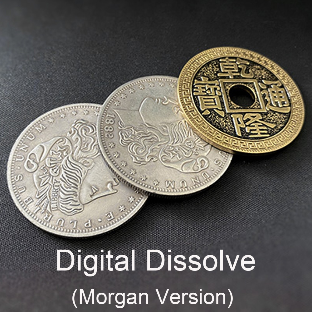 Digital Dissolve (Morgan Version) Magic Tricks Stage Close Up Magie Coin Visually Change Magie Gimmick Props trucos de magia digital dissolve morgan version magic tricks stage close up magie coin visually change magie gimmick props trucos de magia