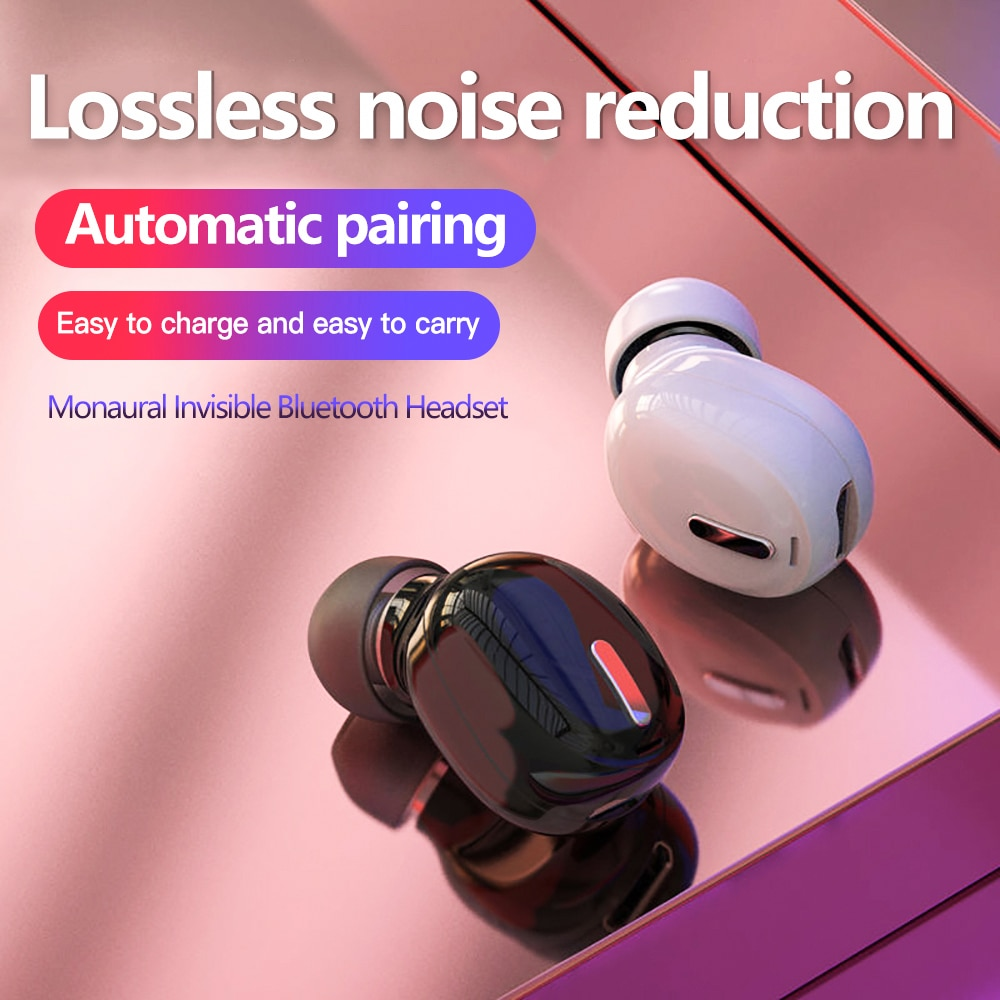 Миниатюрные наушники-вкладыши 5,0 Bluetooth, Hi-Fi беспроводная гарнитура с микрофоном, сп