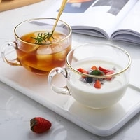 uniho gold rim glass breakfast cup drinking glasses tea cup with handle espresso coffee cups and mugs heat resistant restaurant