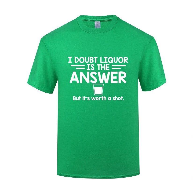 Смешно, но это стоит выстрел хлопковая Футболка Графический Для мужчин с О-образным вырезом летние шорты с длинными рукавами рубашки для ма...