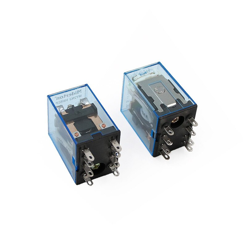 MY2P HH52P MY2NJ реле катушки общего DPDT микро мини электромагнитное реле переключатель со светодиодом AC 110V 220V DC 12V 24V