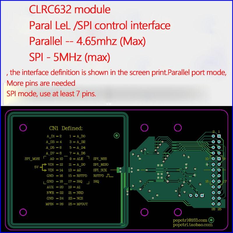 وحدة قارئ RFID, CLRC632