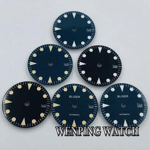 Bliger 28.5mm sterile watch dial luminous dial fit ETA 2836/2824 Miyota 8205 8215 821A Mingzhu DG2813/3804 movement
