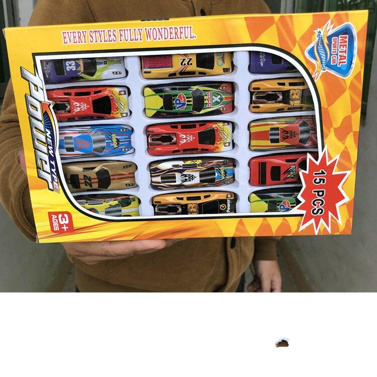 15 unids/set de juguetes para niños, coches de juguete, aleación de carreras, colección de modelos de coches, modelo de vehículo tipo Mini