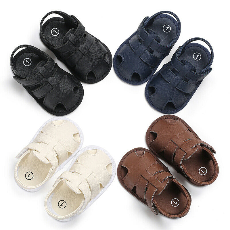Baby Summer Sandals For 0-18 Months Boy Girl Slippers Toddler Kids Nursery School First Walkers PU L