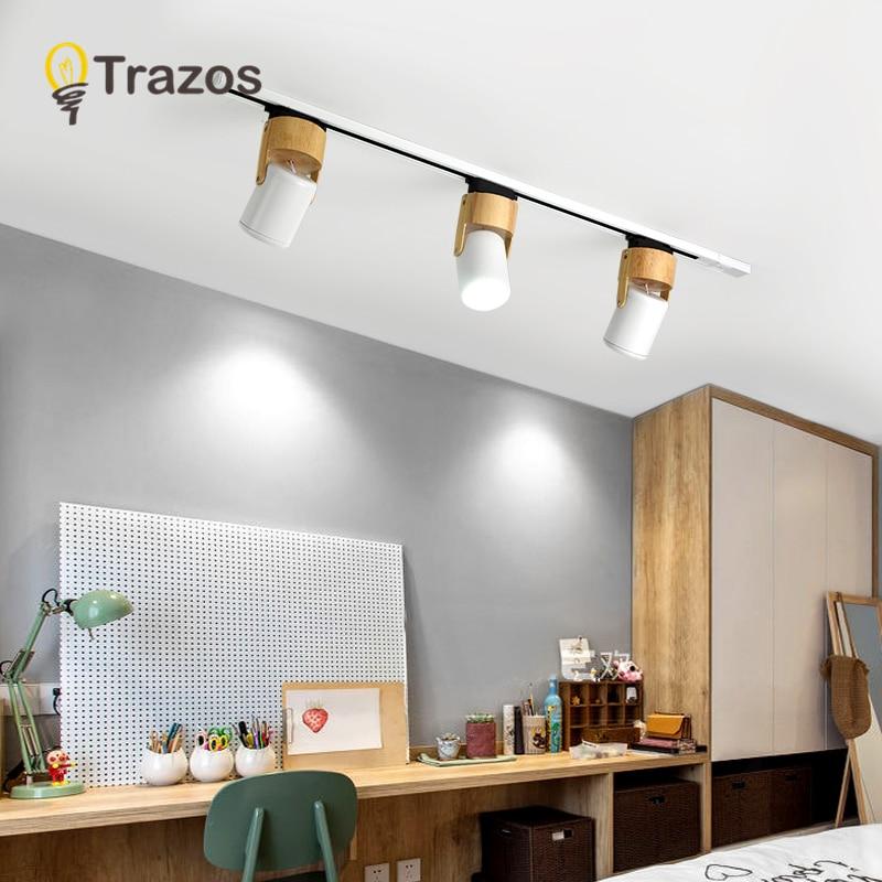 30w led faixa de luz lâmpada preto whitetrack iluminação ponto lâmpadas luminárias holofotes 220v para loja roupas casa