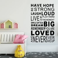 characters never give up quotes wall decal art vinyl stickers wall decorations living room adesivo de parede