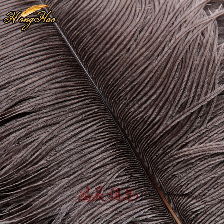 High Quality 10pcs Natural Ostrich Feathers 35-40cm Christmas Birthday Wedding Party Diy Grey Feather Decorations Plumage