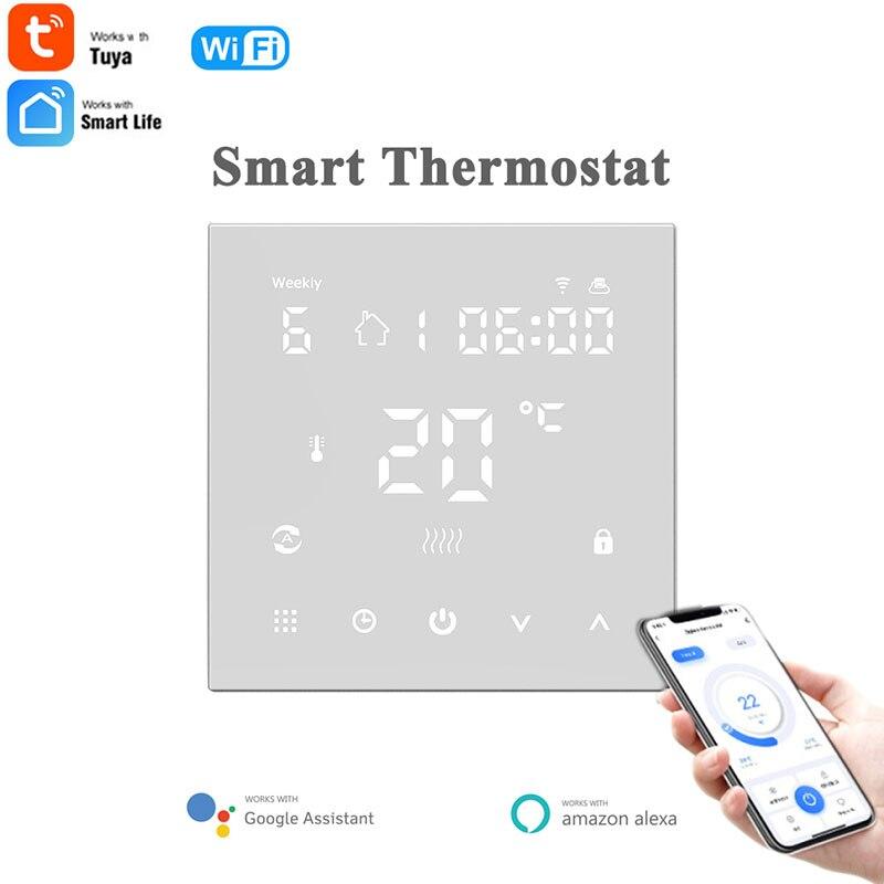 Tuya ترموستات واي فاي الذكية ترموستات التدفئة الكهربائية الكلمة المياه/الغاز المرجل درجة الحرارة APP تحكم عن بعد لجوجل المنزل