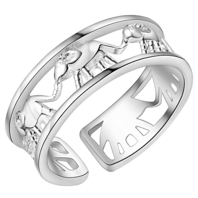 Женское милое Ювелирное кольцо в виде слона серебряного цвета, элегантные кольца в стиле ретро для женщин, подарок на свадьбу, горячая Распр...
