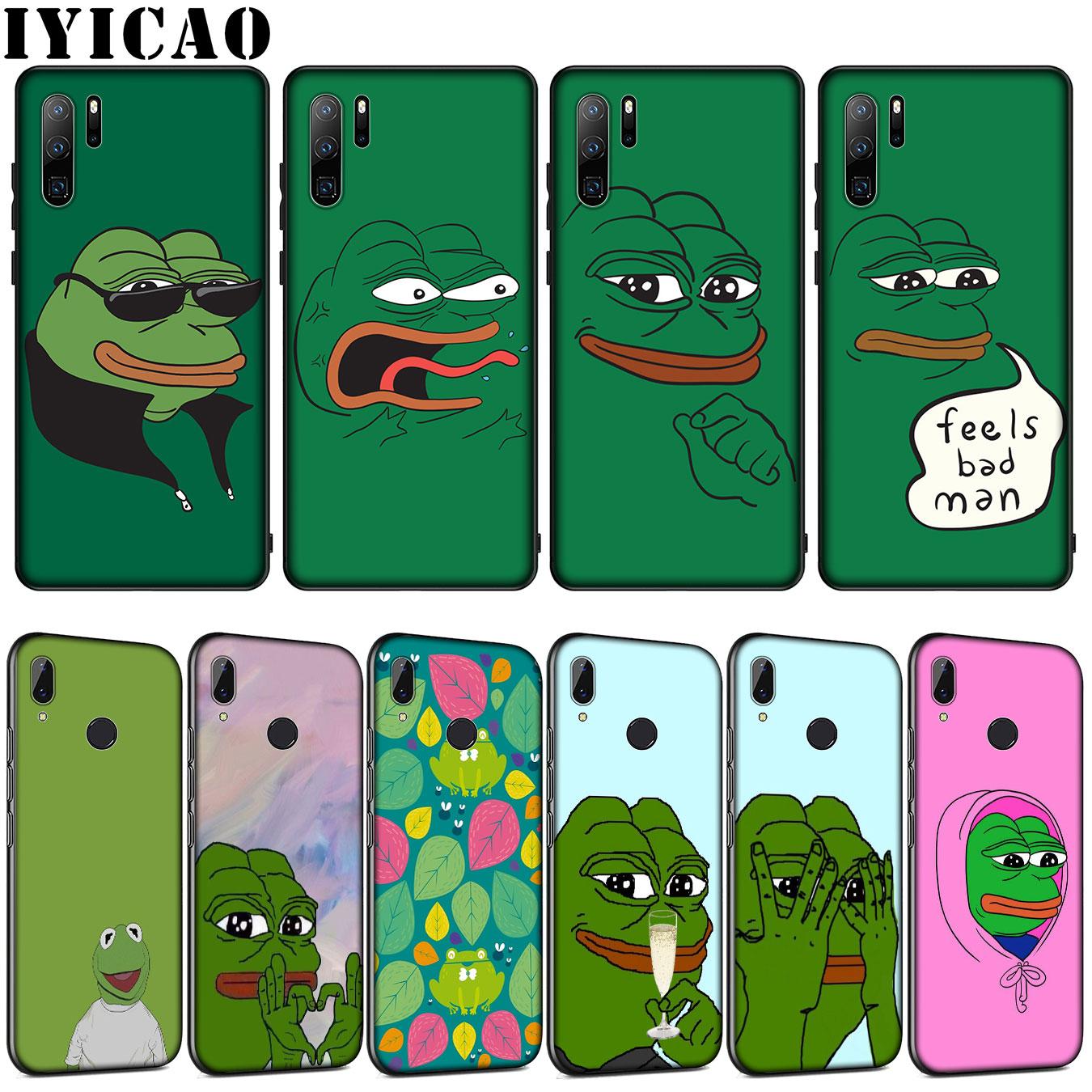 the Frog meme pepe Soft Silicone Case for Huawei P30 P20 Pro P10 P9 Lite Mini 2017 2016 P Smart Z Plus 2019