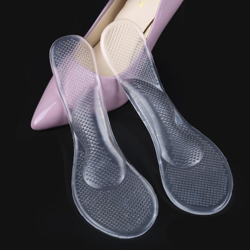 Non-Slip Women Gel 3/4 length Arch Support Anti-slip Massaging Metatarsal Cushion Orthopedic Insoles for High Heels Shoes Gel