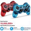 New For SONY PS2 Wireless Controller Bluetooth Gamepad For PlayStation2 Joystick Console For Dualshock2 Transparent Gamepad 4