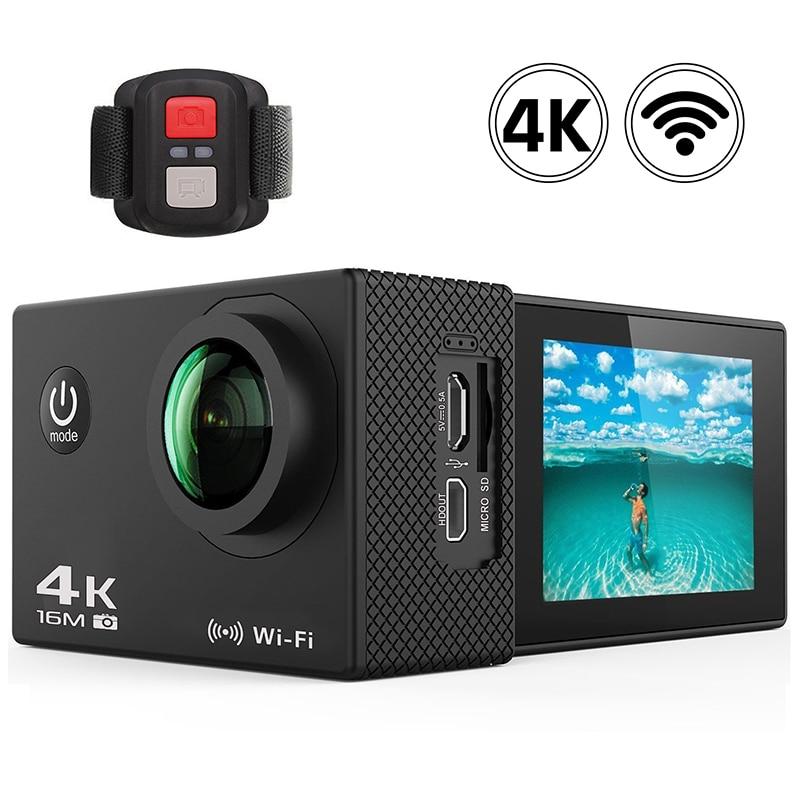 Sport Camera WiFi 4K Ultra HD Action Camera Video Record 30m Go Waterproof Pro 2.0inch 16MP Remote Control 170D Outdoor Sport DV