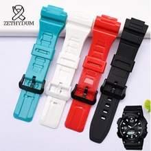 silicone rubber bracelet 18mm watch bracelet for 298# watch student watchband waterproof Original si