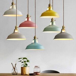 Современный светодиодный подвесной светильник, подвесные светильники для столовой, Красочные Подвесные лампы для ресторана, кофейной спал...