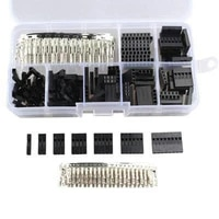310pcsset wire jumper pin header connector housing kit male crimp pins female pin terminal connector pitch with box