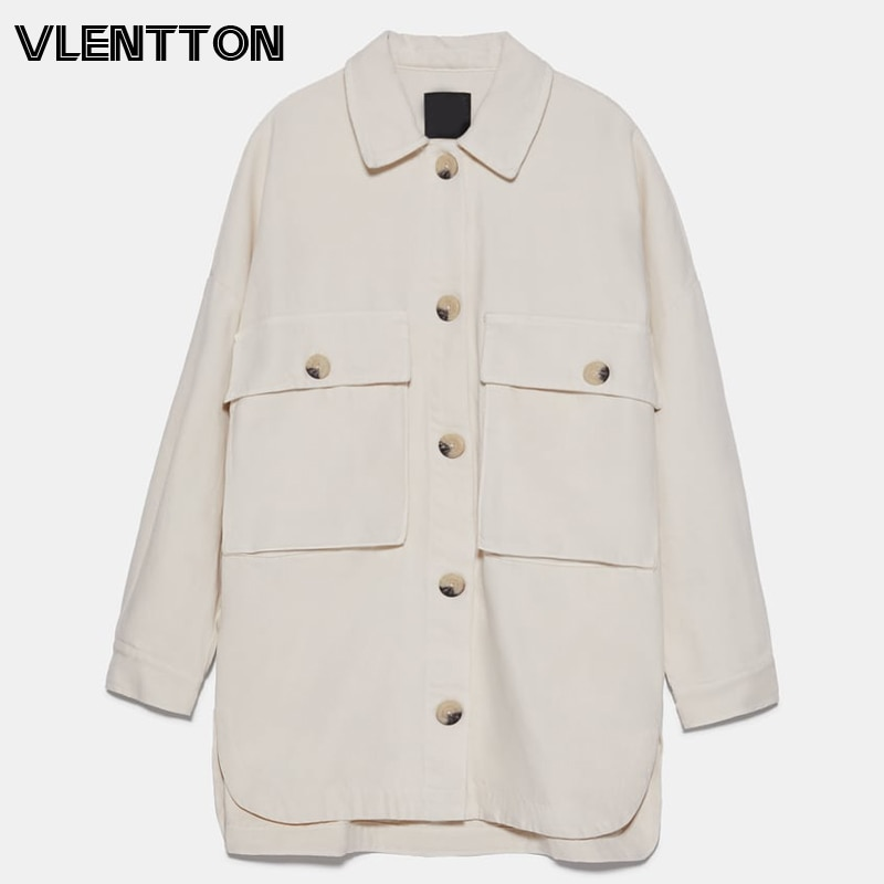 2020 primavera otoño Oversize Vintage Denim Shirt mujeres sólido Botón de manga larga Casual suelta Jean Tops y Blusas señoras Blusas