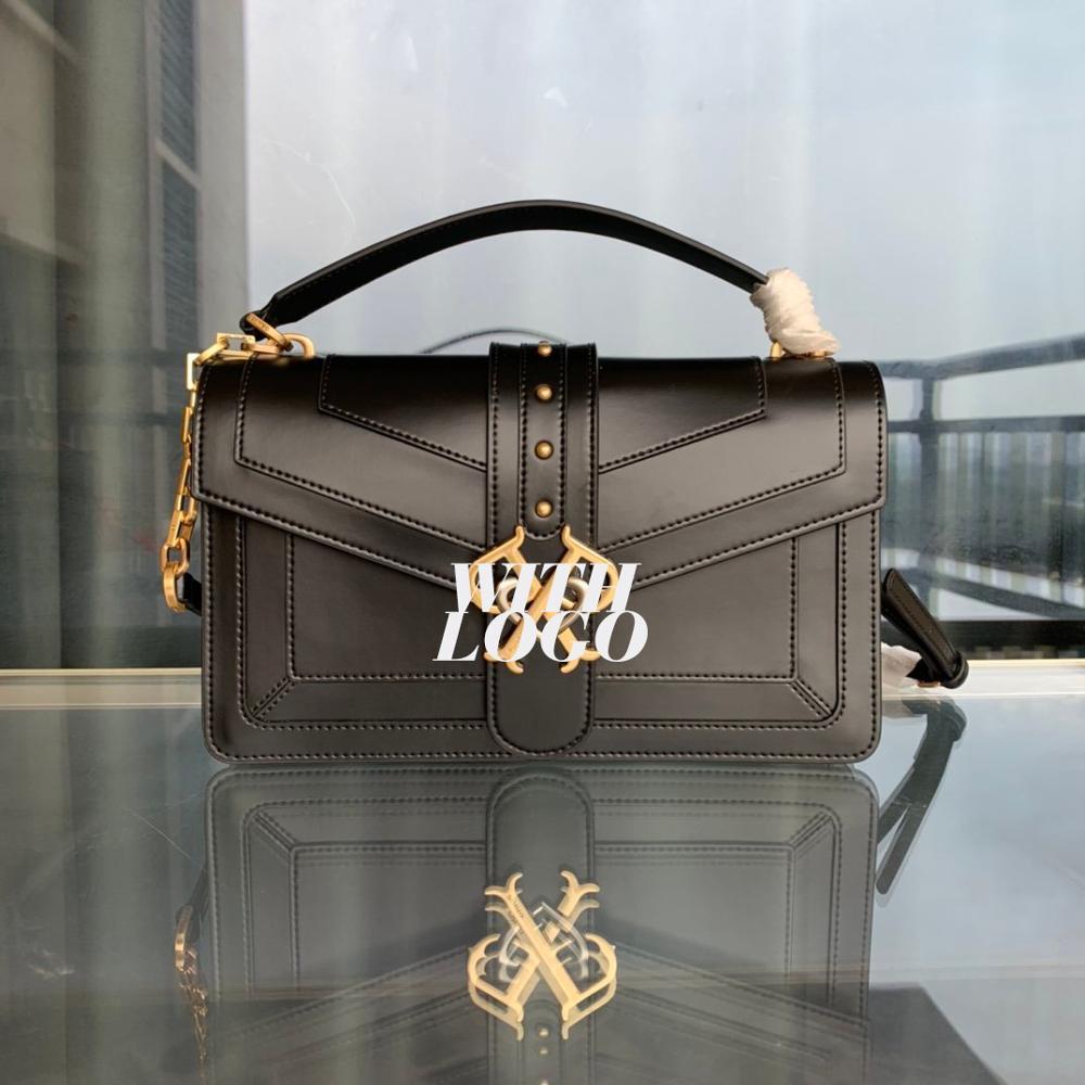 Bandoleras cruzadas clásicas de marca de moda de lujo para mujer, bolso de mano para mujer, piel auténtica, diseño de golondrina de alta calidad