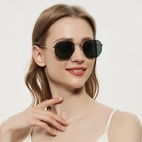 2021 luxury vintage mirror brand designer sunglasses womenmen classic round outdoor sun glasses uv400 oculos de sol gafas