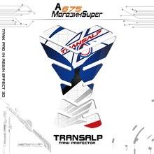 Per HONDA TRANSALP 3D Rilievo del Carro Armato Sticker Pad Laterale del Ginocchio Gas Grip Protector