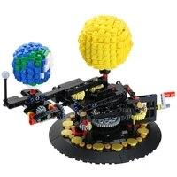 buildmoc earth 4477 earth moon and sun model world diy diamond mini micro building blocks bricks assembly toys game gifts