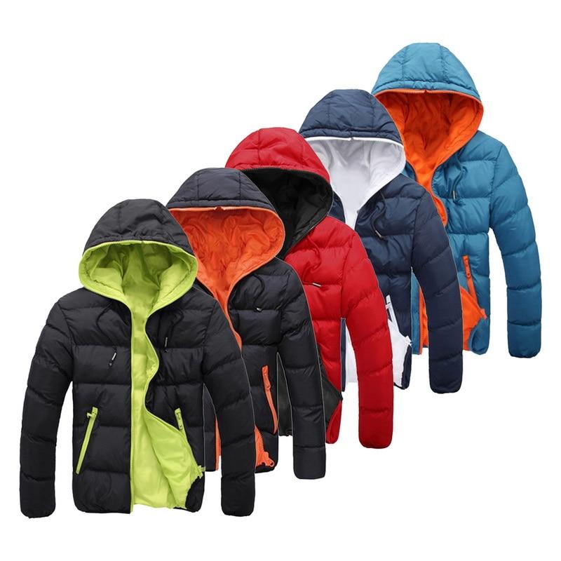 MONERFFI 2020 Winter Jacket Mens High Quality Thick Warm Down jacket  Brand coat  parkas Coats Hoodi