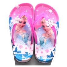 Princess Aisha Sophia Girls Flip-Flops Summer Children's Flip Sandals and Slippers Kids Cartoon Baby