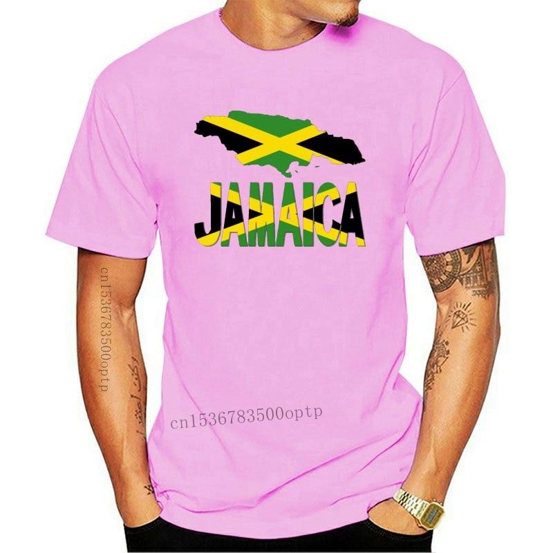 New 2021 Style Jamaica Flag Map Tshirt Men Letter Women T-Shirts Leisure Camisas Shirt