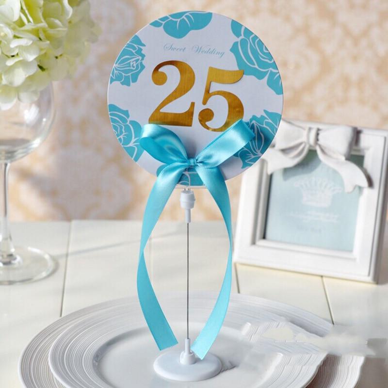 Soporte creativo para tarjetas de mesa número de mesa decoración de boda...