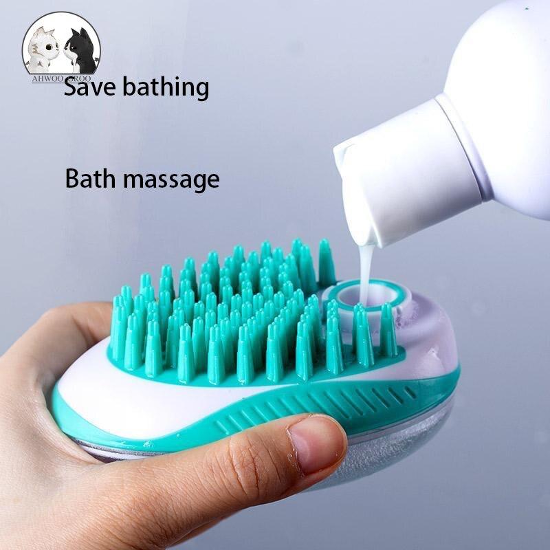 Pet Bathing Brush Bathing Massage Brush Cat and Dog Bathing Brush Hair Combing Cleaning Supplies Bea