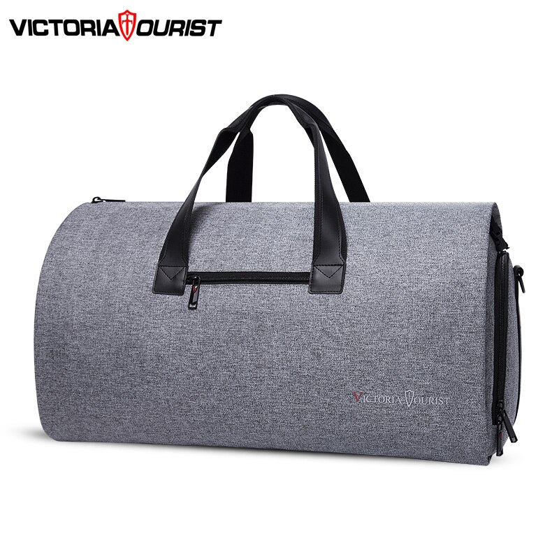 bagsmart waterproof black nylon gown garment bag for traveling with handle lightweight suit bag business men ravel bags for suit Victoriatourist Travel bag Garment bag men women Luggage bag versatile suit package for business trip work leisure