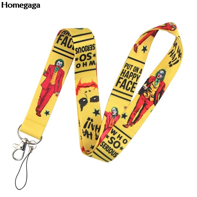 20pcs/lot Homegaga Clown Phone Neck Strap Cartoon Lanyard for Keys Stylish Phone ID Badge Lanyards for Whistle Camera D2631
