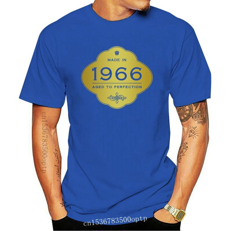 New Made In 1966 - Aged to Perfection 50th Birthday Gift T-Shirt Golden Sign