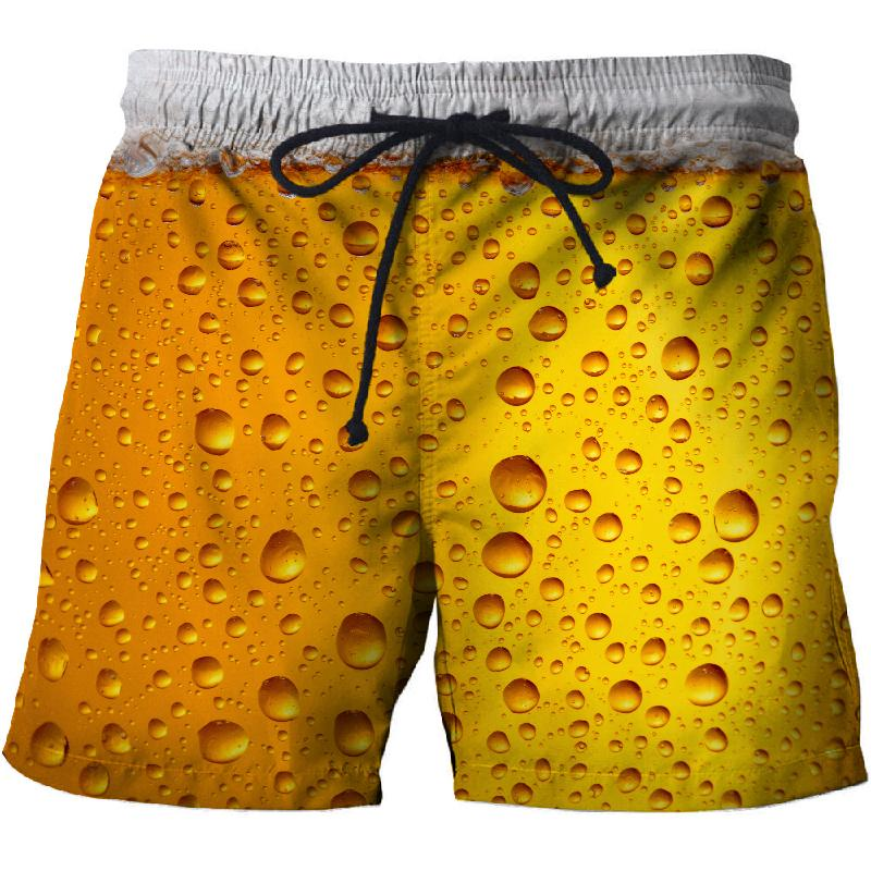 2020 summer beer 3D printing casual beach shorts Mascuino gym street men's resort shorts fashionable sports men's pants baan laimai beach resort
