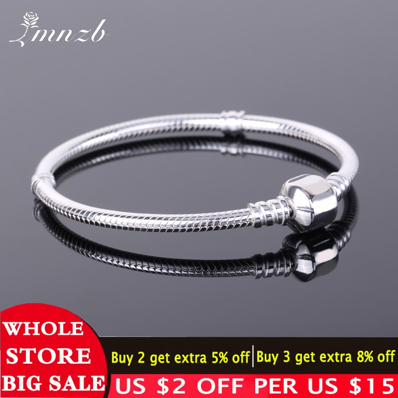 Free Sent Certificate 925 Sterling Silver Original Charm Bracelet with S925 Logo Women DIY Beads Cha