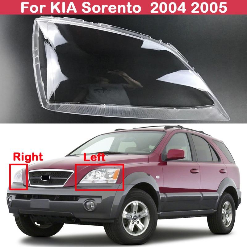 Faros delanteros transparentes, pantallas de lámpara, faros de carcasa, cubierta para KIA Sorento 2004 2005