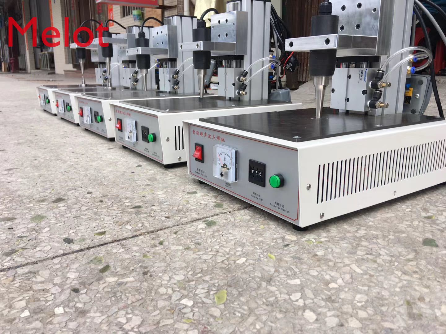 Portable ear belt spot welding machine for non woven fabric ear rope melting point machine kit tool hot enlarge