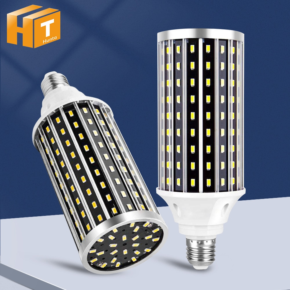 5736 سطوع عالية LED ضوء أزرق E27 50 واط AC85-265V لا وميض لمبة ليد على شكل ذرة للإضاءة الصناعية/التجارية