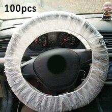 100 * housse de volant de voiture à usage unique Premium housse de protection Non tissée écologique accessoire de voiture universel