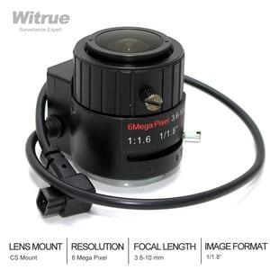 Объектив камеры видеонаблюдения 6 мегапикселей 3,6-10 мм, ручной варифокальный объектив постоянного тока с автоматической радужной оболочкой...
